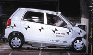 乗用車の衝突実験